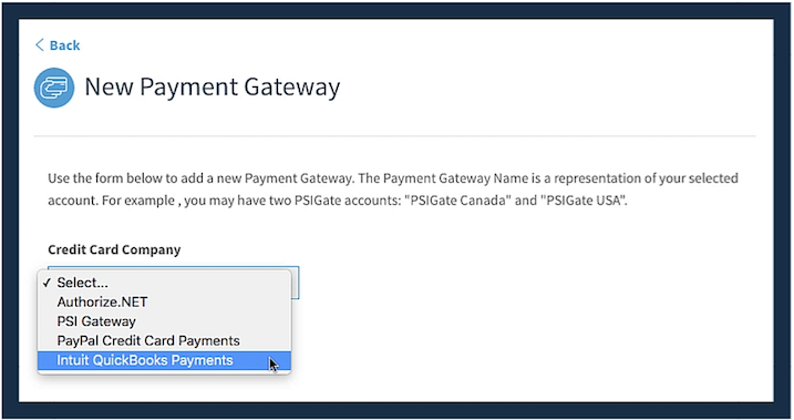 New Payment Gateway