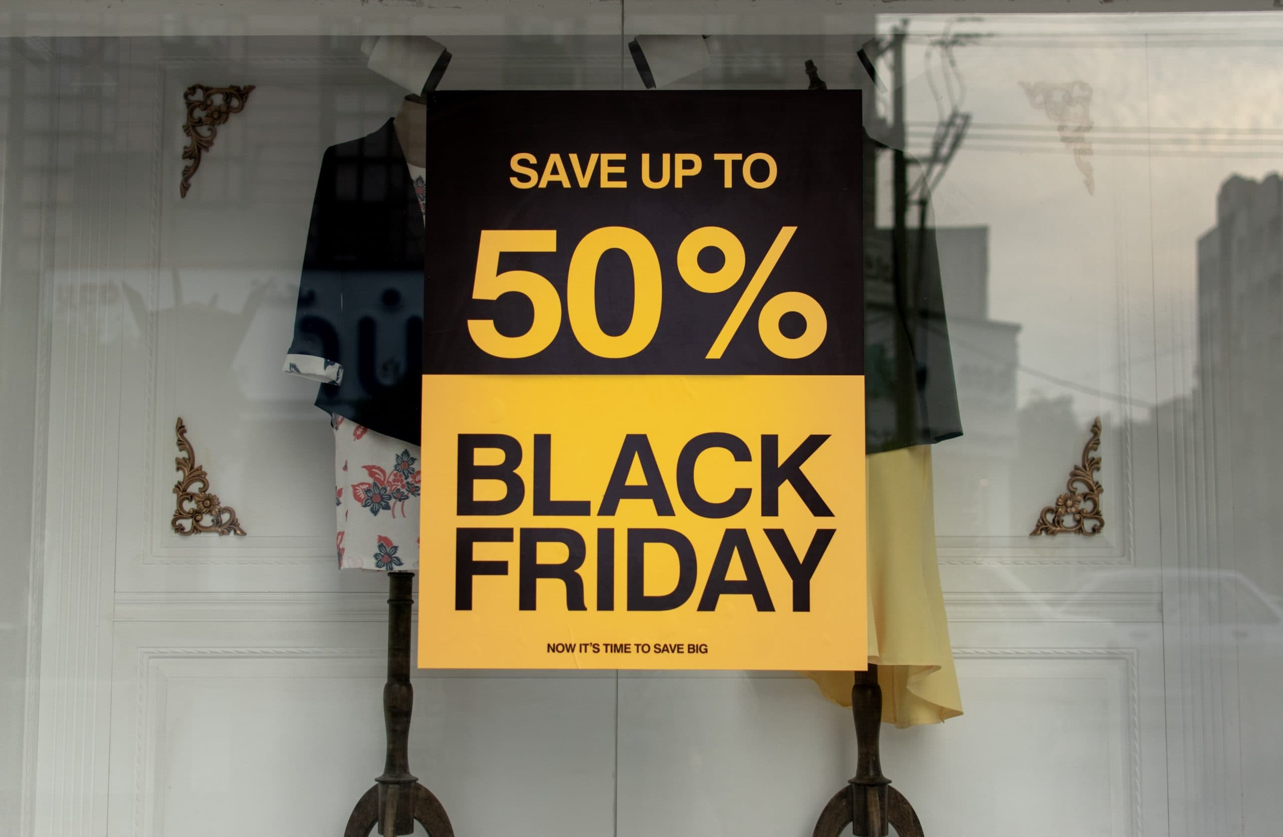 Save up to 50%. Black Friday.
