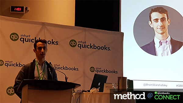 Bram Warshafsky at QuickBooks Connect Toronto