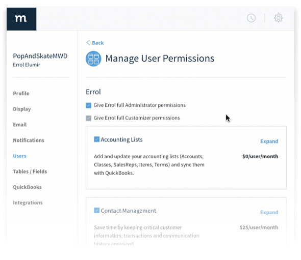 Manage User Permissions in Method:CRM Lead Management Software