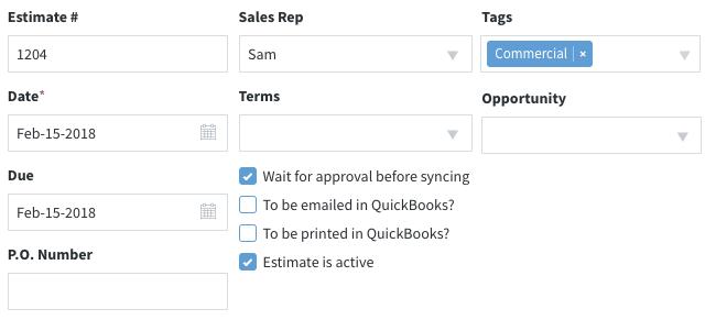 Method:CRM's estimates app.