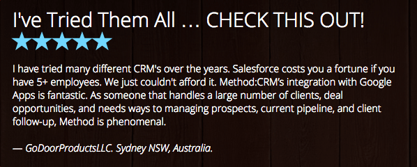 Method:CRM Now Available for Australian QuickBooks Customers