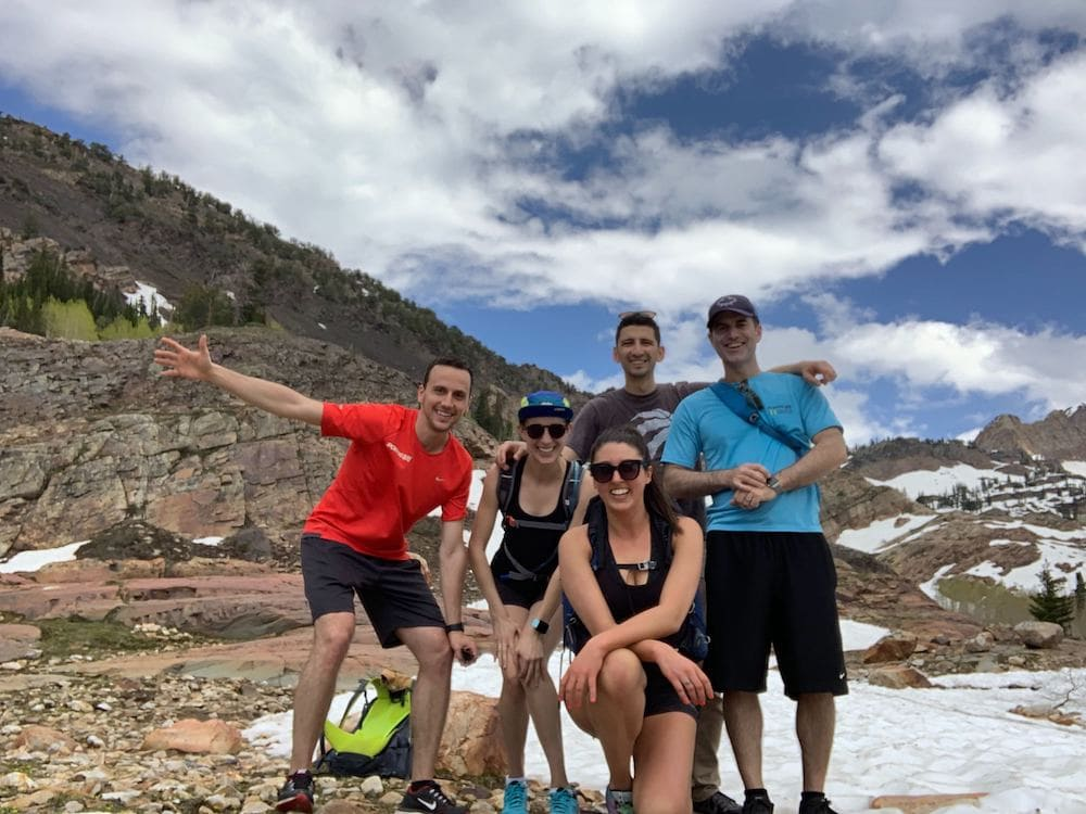 Method CRM team hiking in Salt Lake City