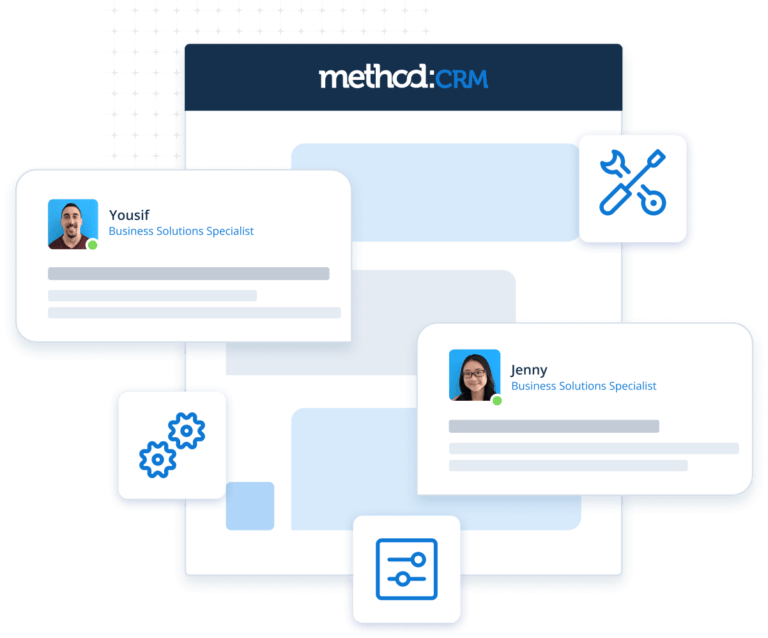 Graphic representing Method's CRM customization services