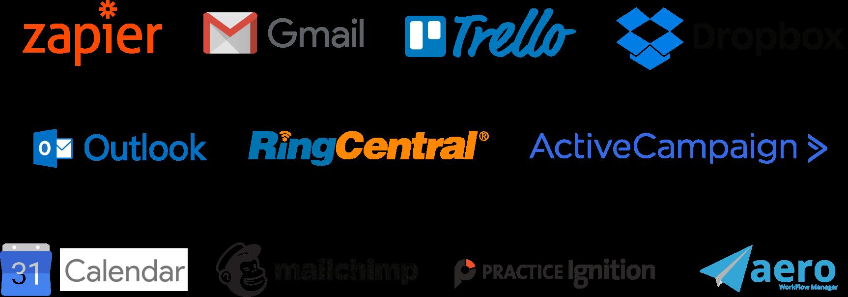 Image of multiple app logos