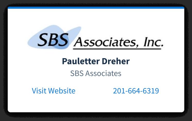 SBS Associates business card