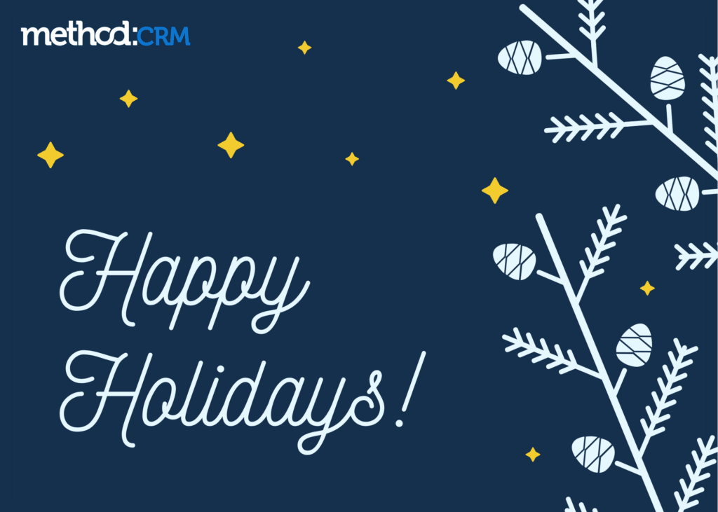 Happy holidays from Method:CRM