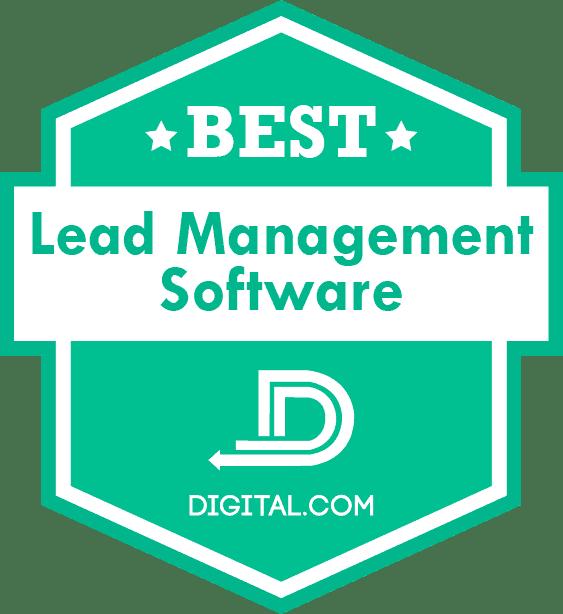 Method's best lead management software badge from Digital.com