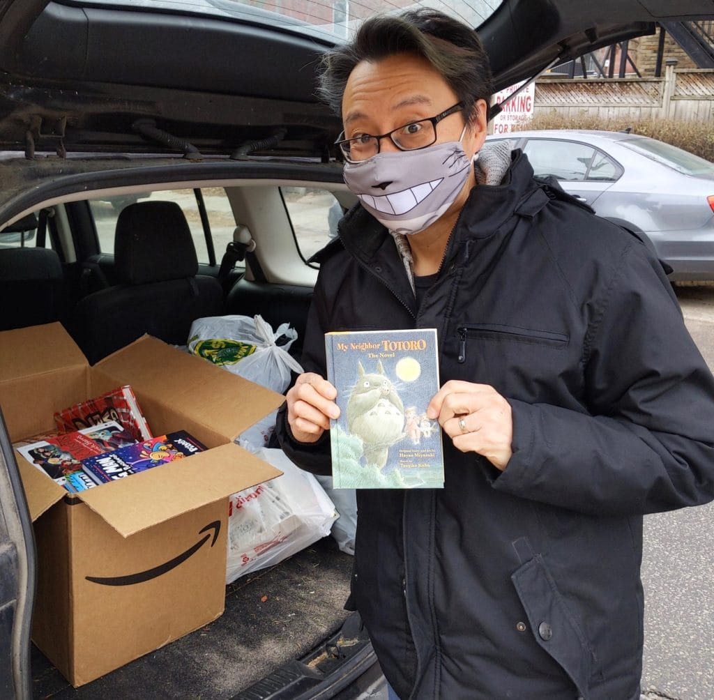 Method team member, Errol, dropping books off at the The Children's Book Bank.