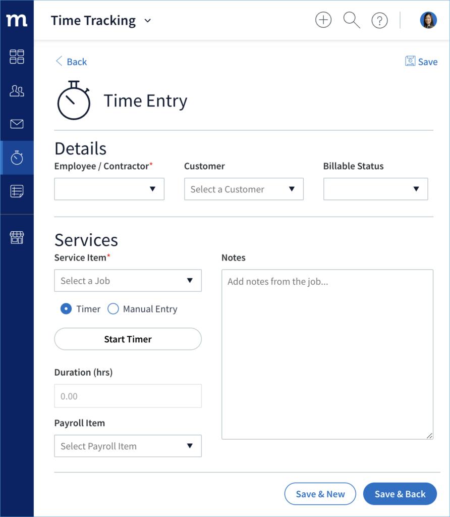 Screenshot of Method's employee time tracking software.